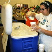 filling ice